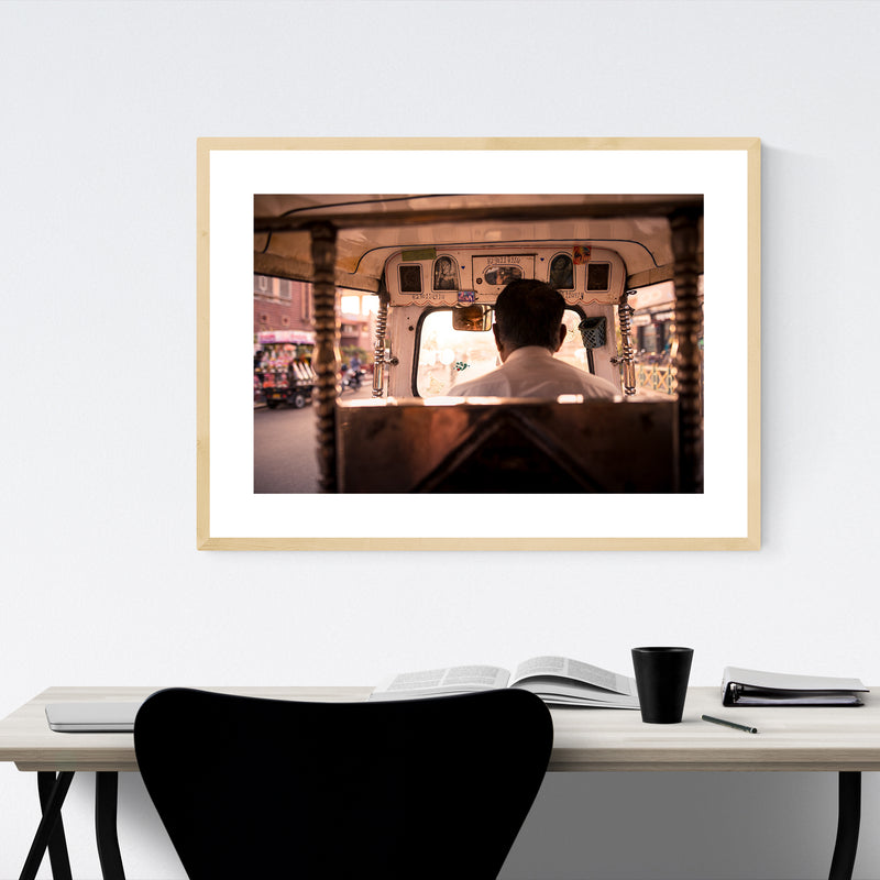 Tuk Tuk Jodhpur India Photo Framed Art Print