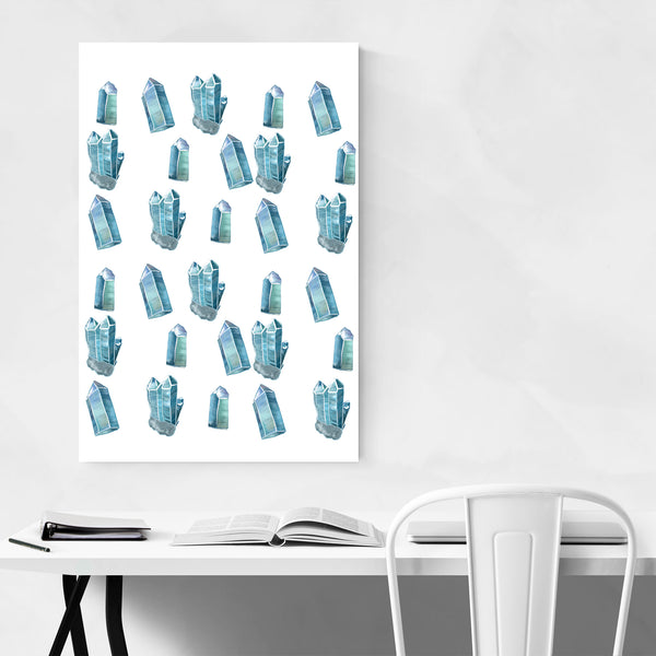 Turquoise Crystals Pattern Art Print