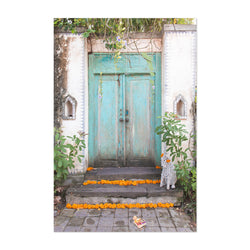Teal Door Bali Indonesia Art Print