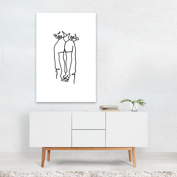 People Line Drawing Art Print