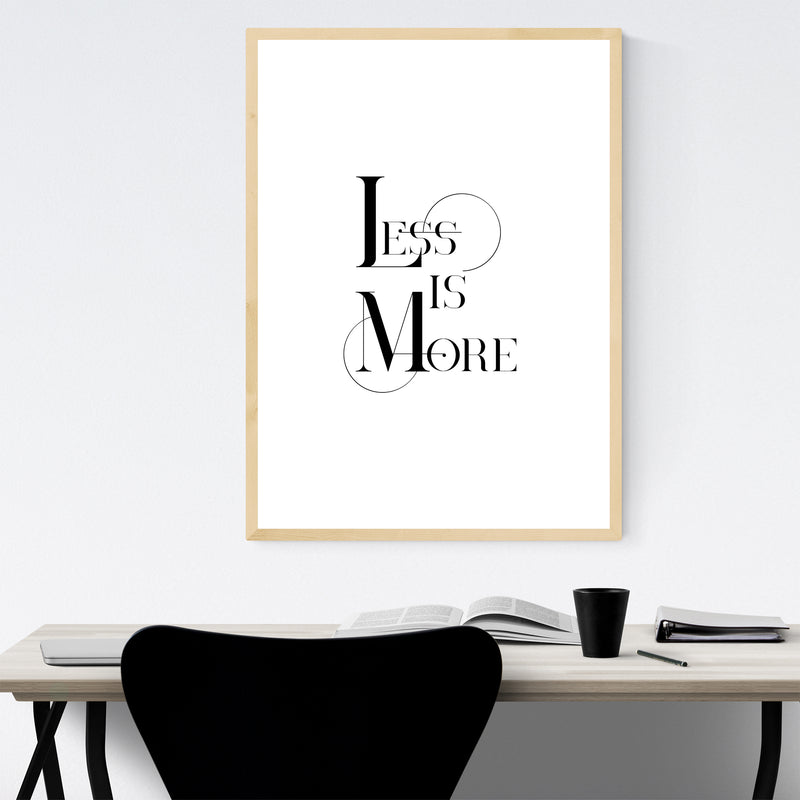 Less is More Typography Framed Art Print