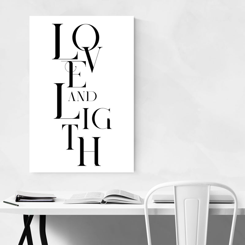 Love and Light Typography Art Print