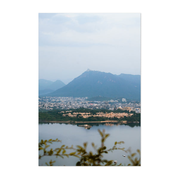 Udaipur City India Skyline Art Print