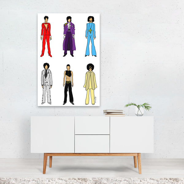 Music Prince Fashion Illustration Art Print