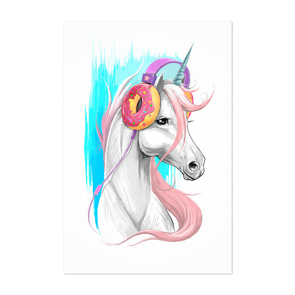 Unicorn Funny Humor Music Gift Art Print