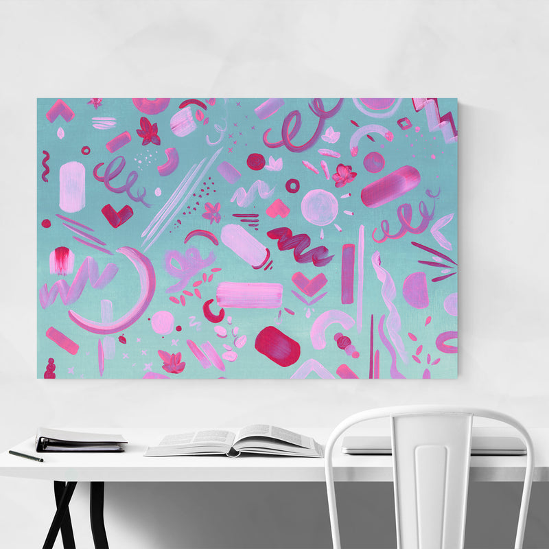 Abstract Acrylic Painting Art Print