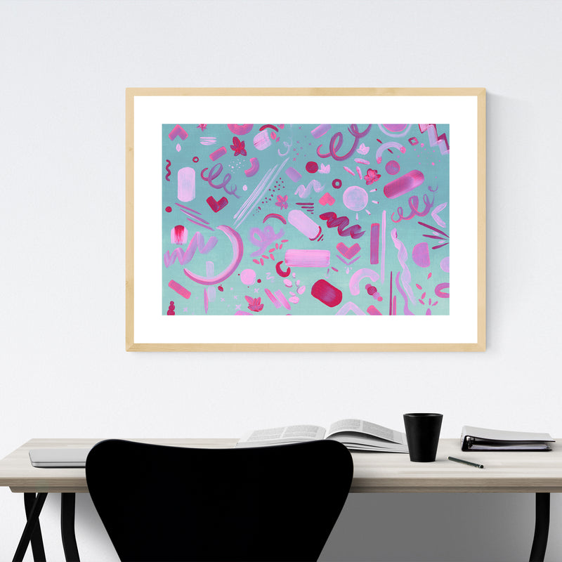 Abstract Acrylic Painting Framed Art Print