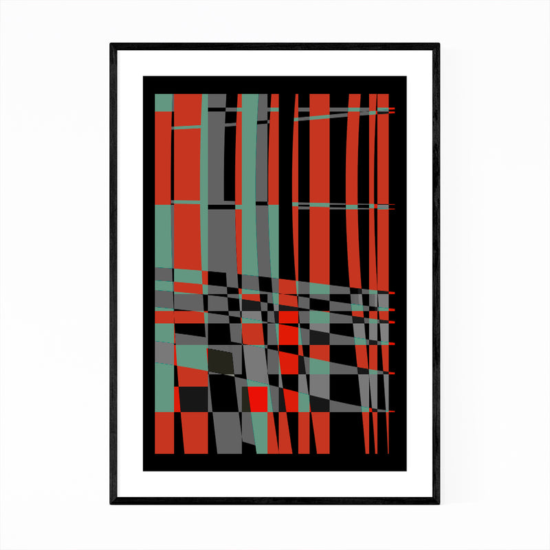 Abstract Colorful Urban Design Framed Art Print