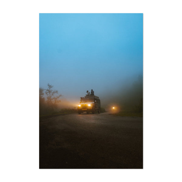 Udaipur India Fog Photo Art Print