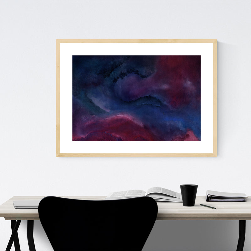 Abstract Modern Oil Painting Framed Art Print