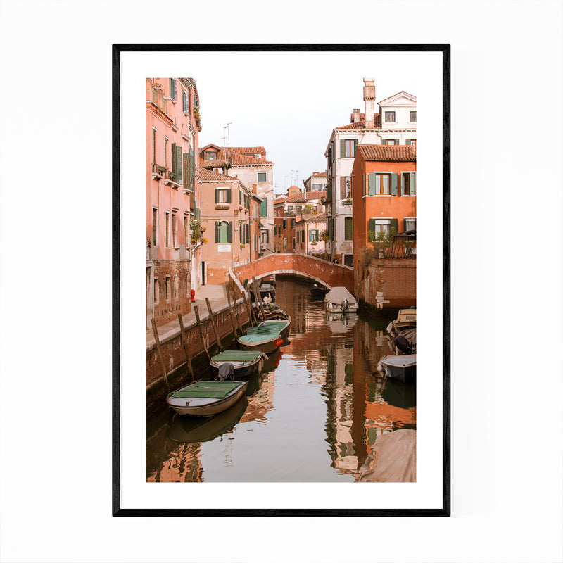 Canals Venice Italy Photography Framed Art Print
