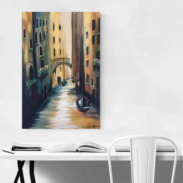 Venice Italy Canal Painting Art Print