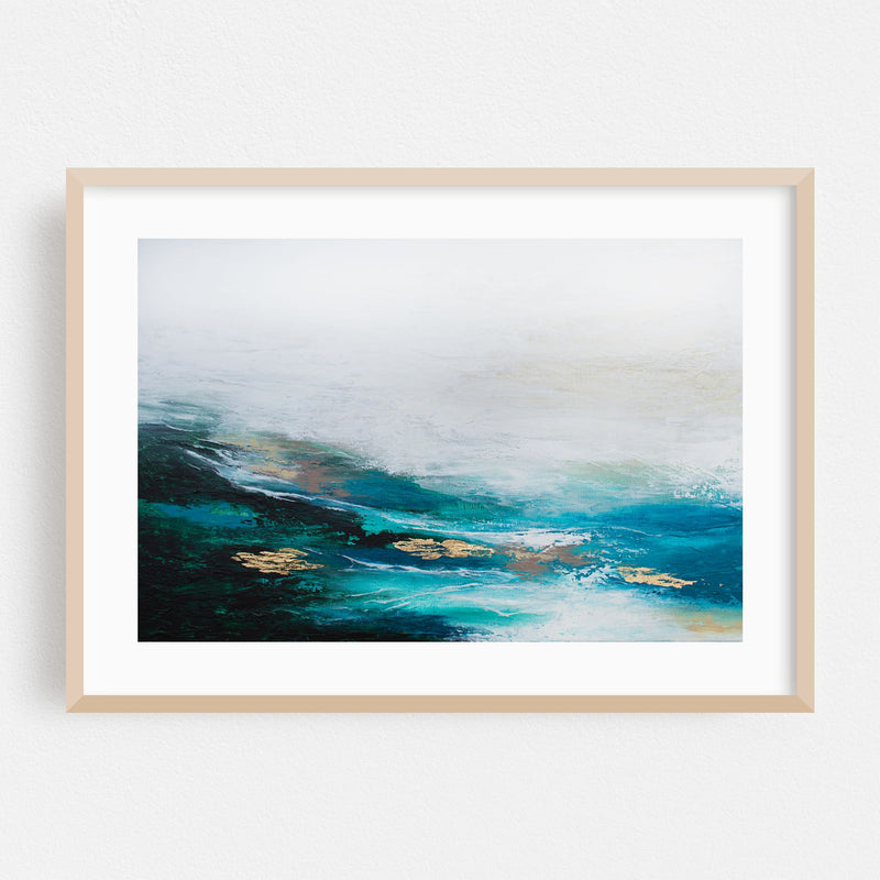 Abstract Nature Painting Framed Art Print