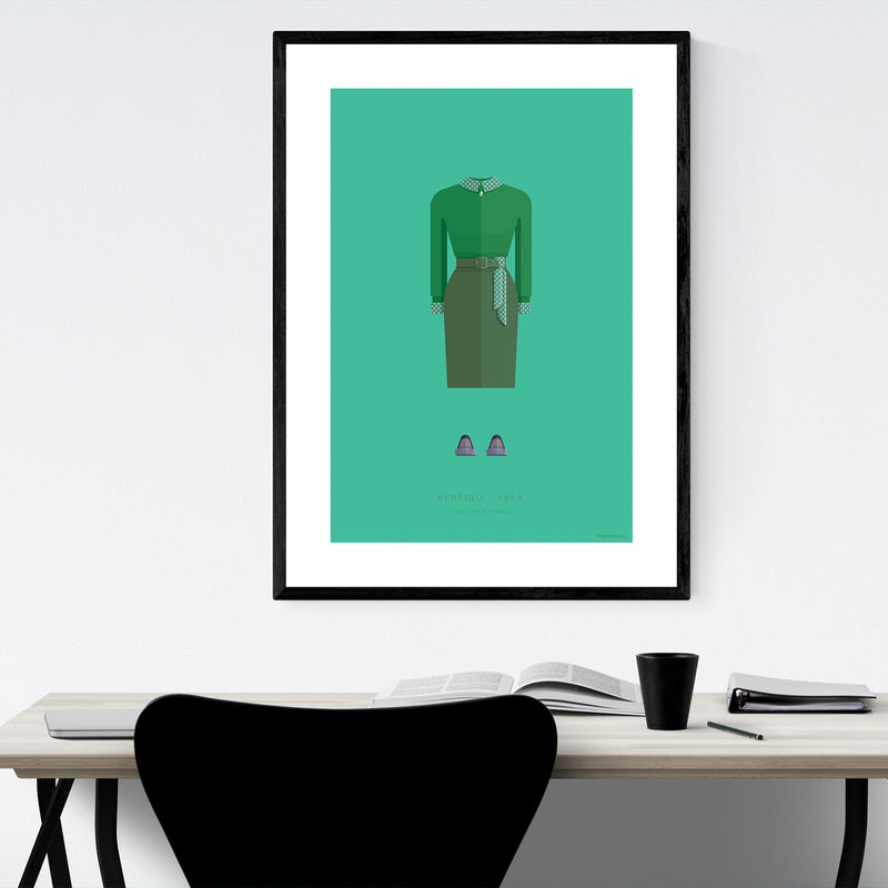 Vertigo Movie TV Illustration Framed Art Print