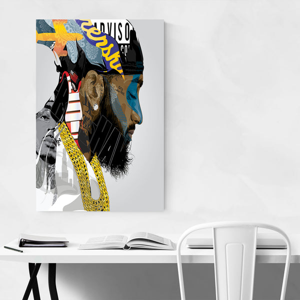 Nipsey Hussle Portrait Rap Music Art Print
