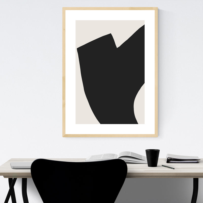 Abstract Minimal Shapes Design Framed Art Print