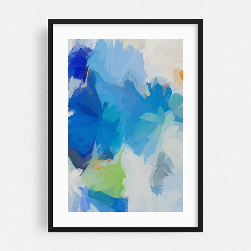 Abstract Painting Framed Art Print