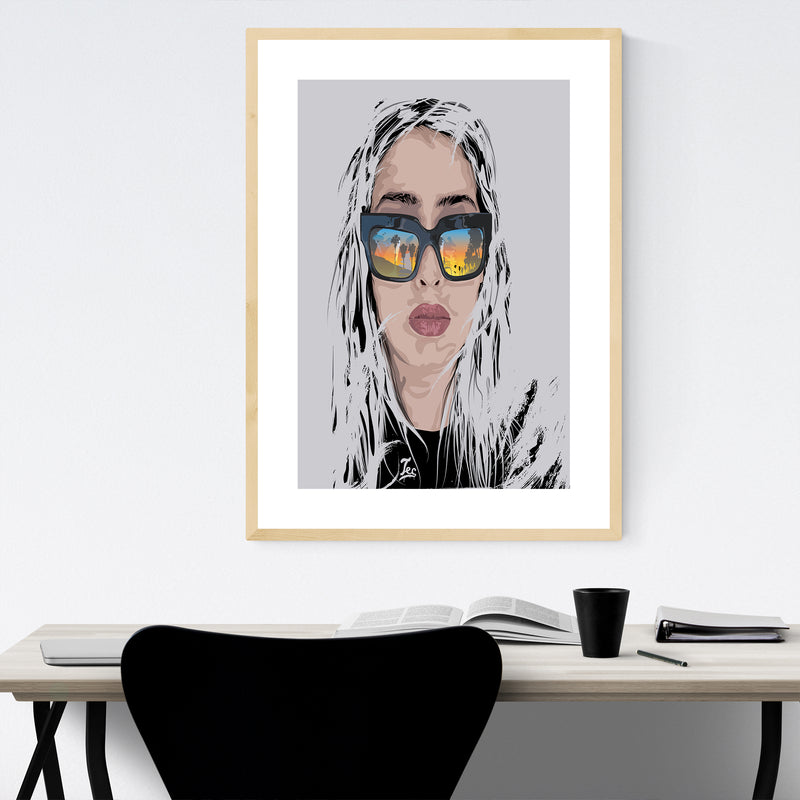 Feminine Figurative Portrait Framed Art Print