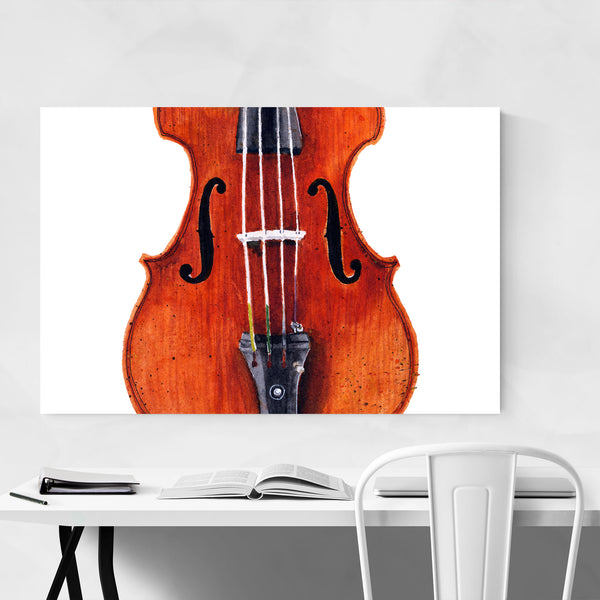 Violin Music Watercolor Painting Art Print