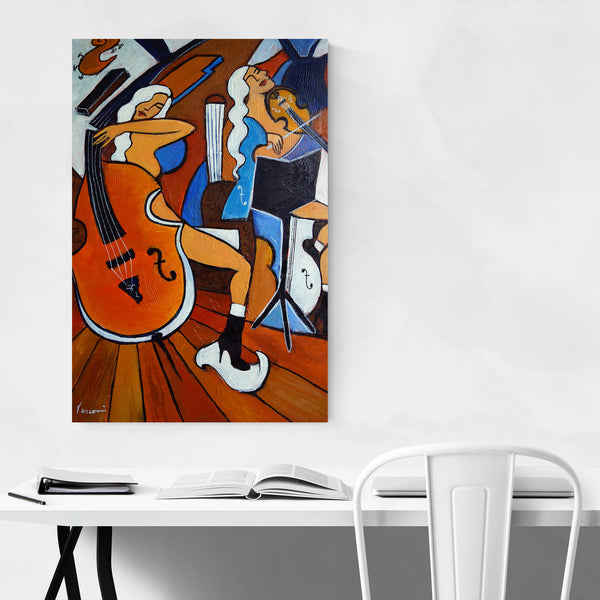 Cello Violin Music Painting Art Print