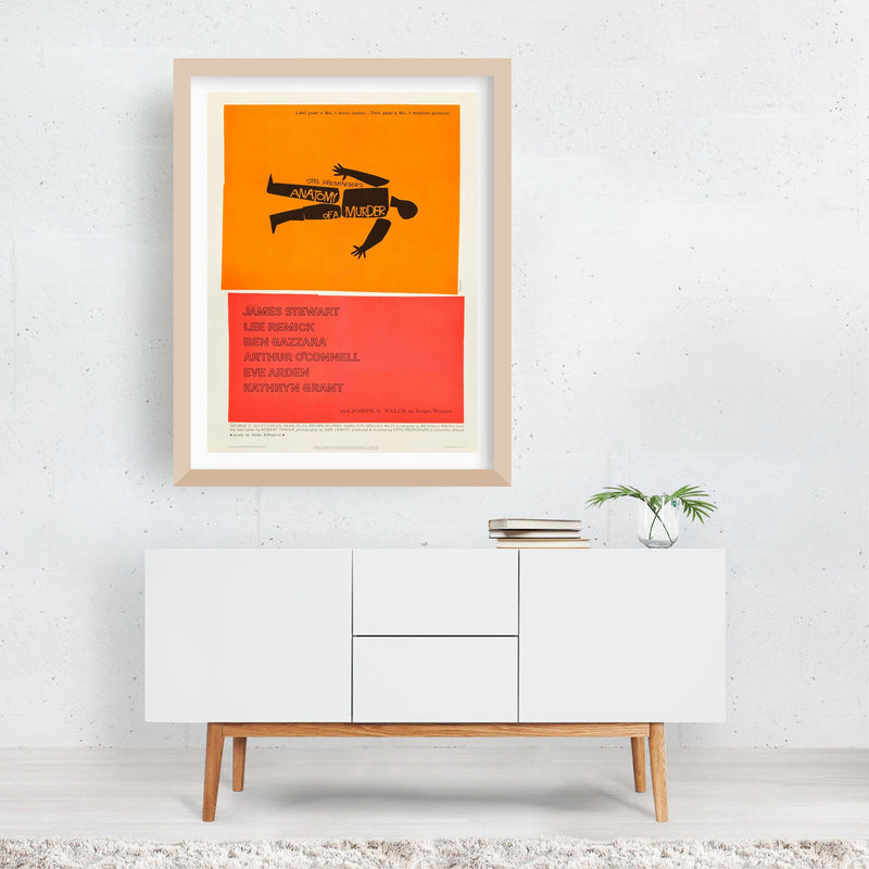 Anatomy Of A Murder Anatomy Framed Art Print