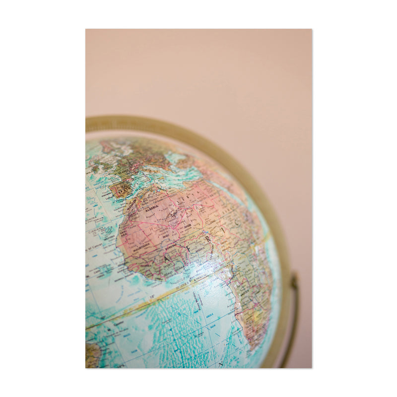 World Map Globe Photography Art Print