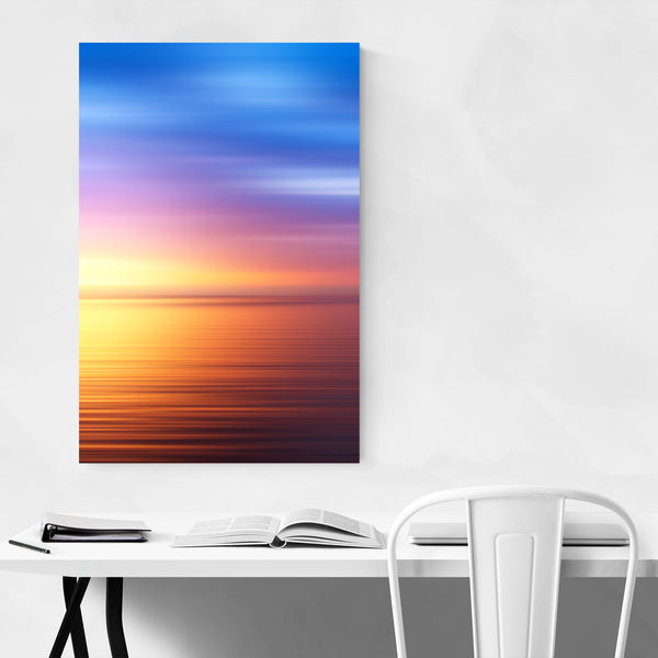 Sunset Nature Abstract Landscape Art Print