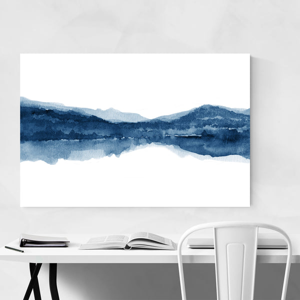 Watercolor Abstract Shapes Minimal Art Print