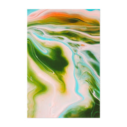 Pastel Abstract Marble Wave Art Print