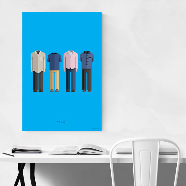 Weezer Music Illustration Art Print