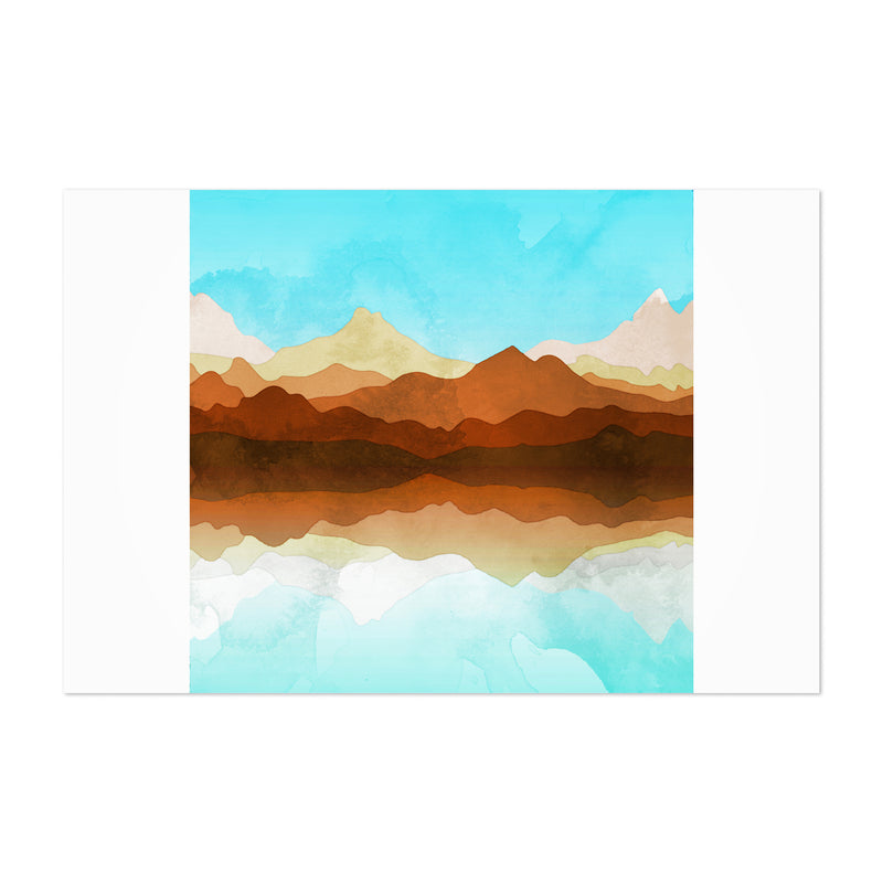 Geometric Mountains Abstract Art Print
