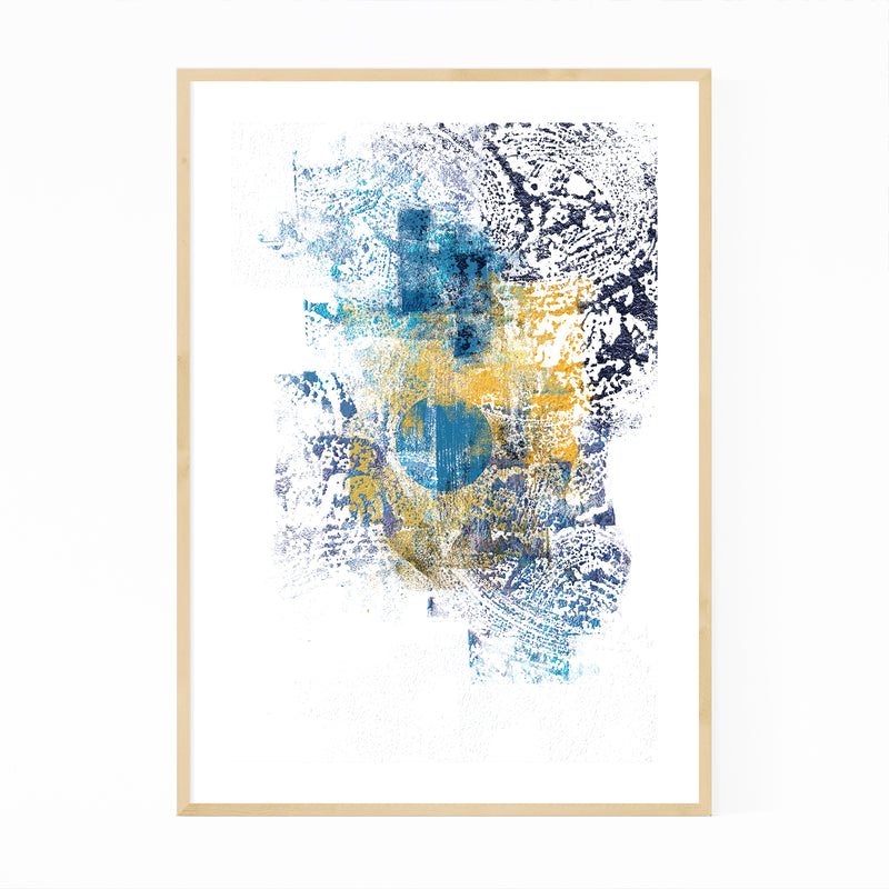 Abstract Digital Painting Minimal Framed Art Print