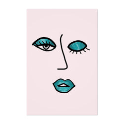 Wink Feminine Fashion Illustration Art Print
