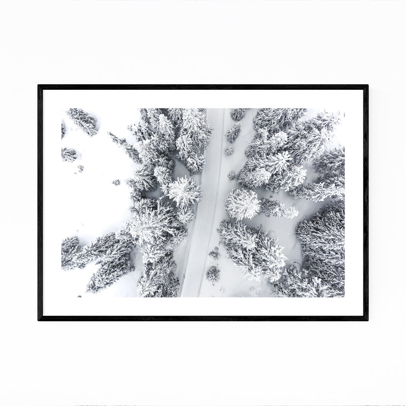 Winter Snow Norway Forest Photo Framed Art Print