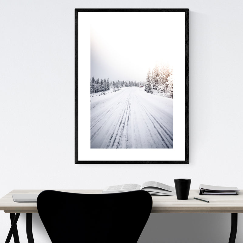 Winter Snow Norway Landscape Framed Art Print