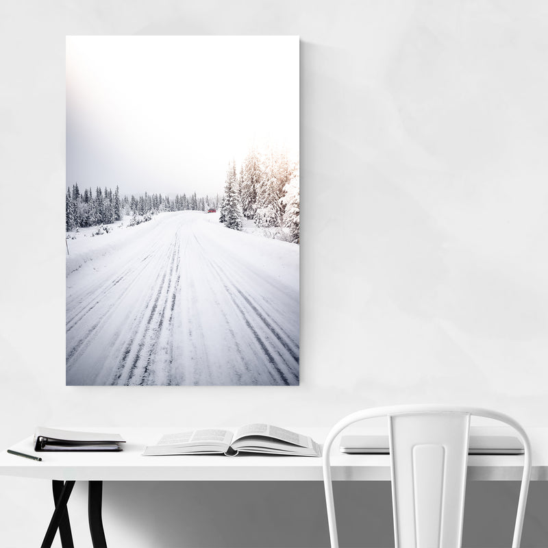 Winter Snow Norway Landscape Art Print