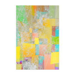 Abstract Pastel Shapes Texture Art Print
