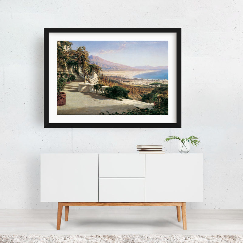 Beach Nature Painting Framed Art Print