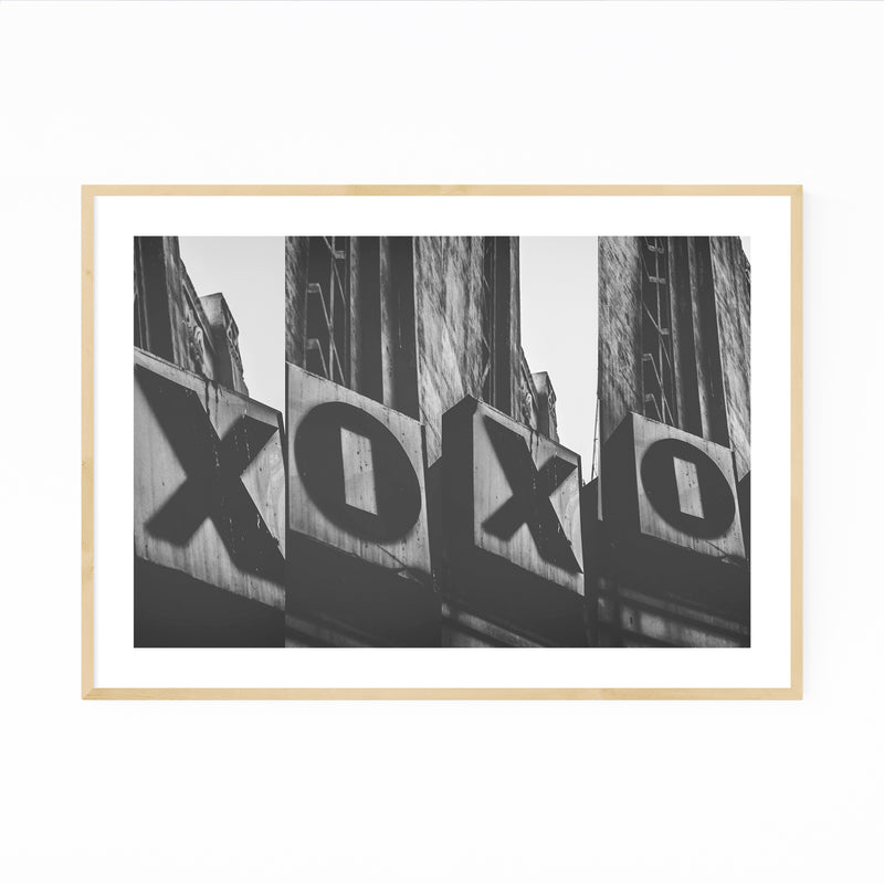 Love XO Sign Photography Framed Art Print