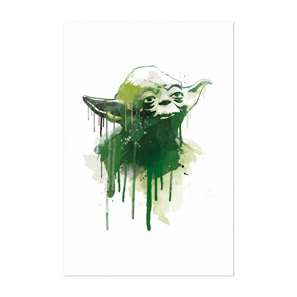 Yoda Star Wars Watercolor Art Print