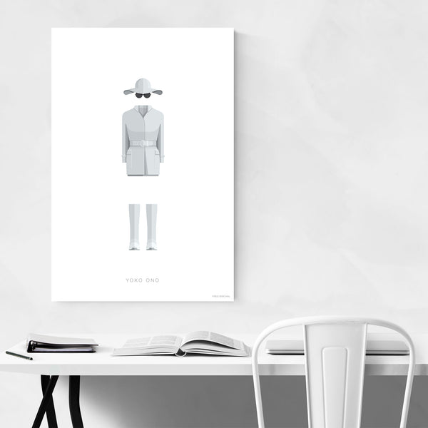 People Yoko Ono Music Illustration Art Print
