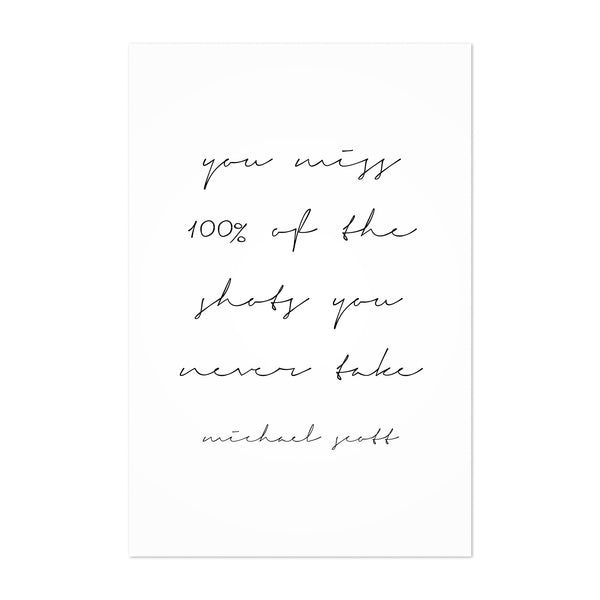 The Office TV Quote Typography Art Print