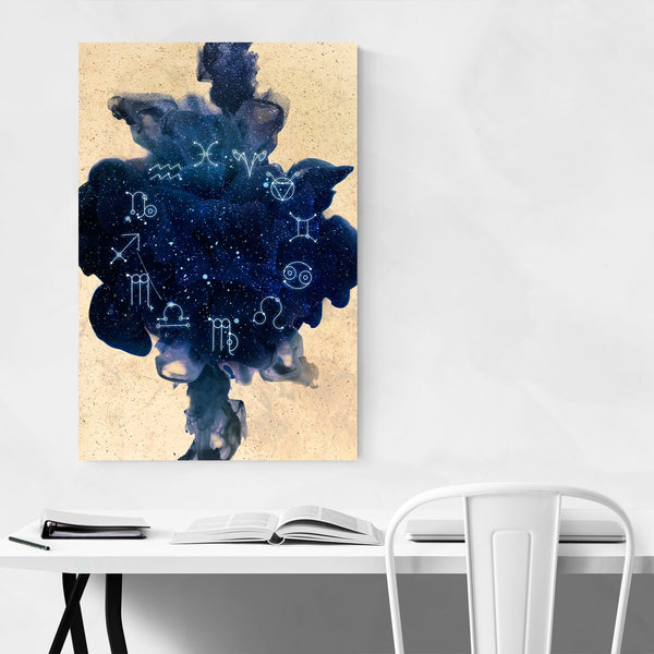 Zodiac Astrology Signs Illustration Art Print