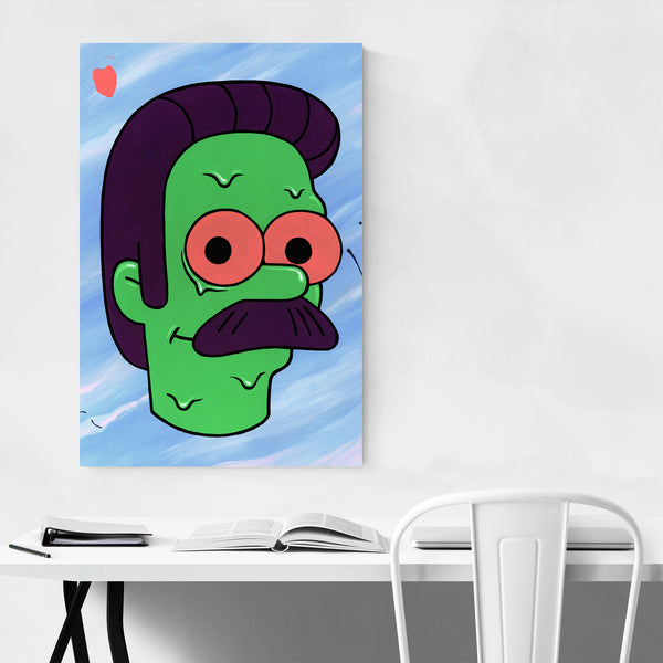 Ned Flanders Simpsons TV Show Art Print