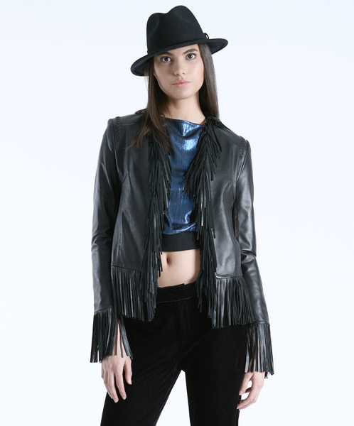 Fringe Lamb Leather Atlas Jacket
