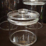 Lucite Small Round Cookie Jar