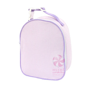 Pink & Purple Seersucker Lunch Box