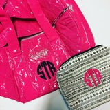 Hot Pink Quilted Patent Large Duffle