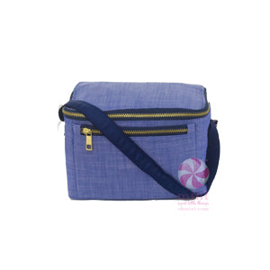 Blue Chambray Bucket Lunch Box