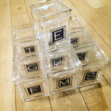 Lucite Small Square Cookie Jar